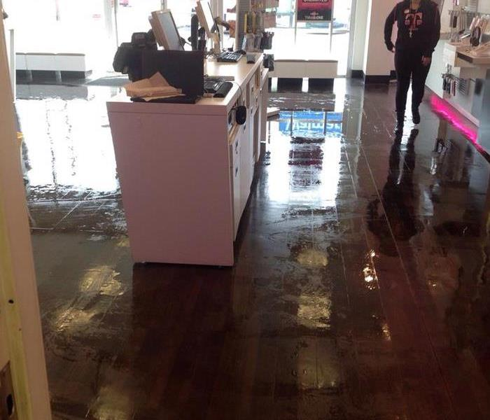 Collierville Boutique Broken Pipe Water Loss Before