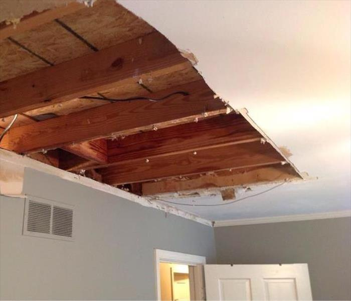 Plumbing Leak Damages Ceiling and Floors in Collierville, TN  Before