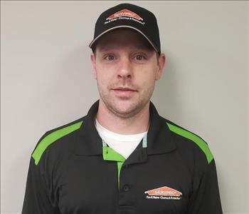 SERVPRO employee, Dustin Bryant, male with hat on