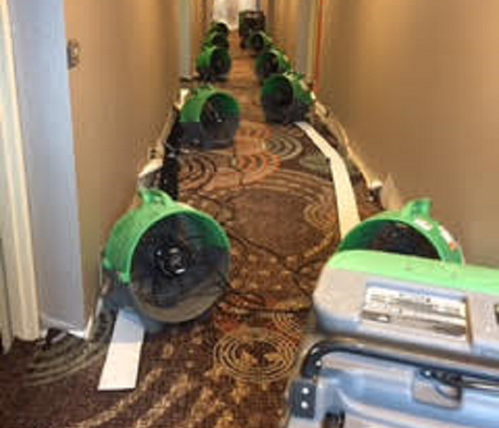 Hotel Water Damage Repaired by SERVPRO