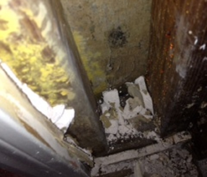 Evidence of mold in wall cavity