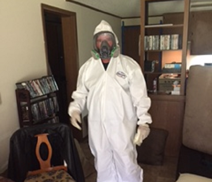 Technician Preparing for Mold Remediation